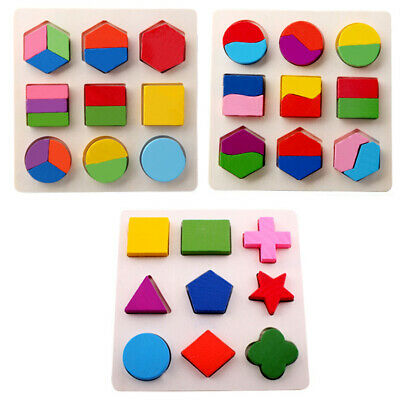 £5.12 • Buy Wooden Fraction Shape Puzzle Toy For Montessori Early  Educational Learning