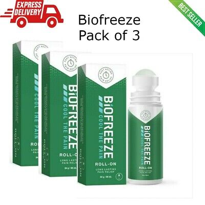 £22.49 • Buy 3 X Biofreeze Pain Relieving Roll-ON 84g