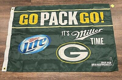 $12.99 • Buy NEW - Green Bay Packers/Miller Lite Flag With Metal Grommets 42  X 27
