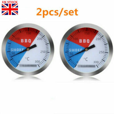 £6.69 • Buy 2X 300℃ 2'' Steel Barbecue BBQ Smoker Grill Thermometer Temperature Gauge