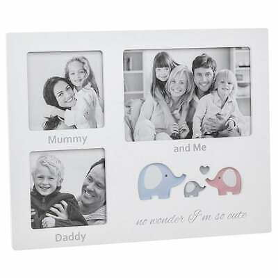 £12.95 • Buy Shudehill Giftware Cut Out Ellie Mummy Daddy And Me 3 Picture Photo Frame 270545