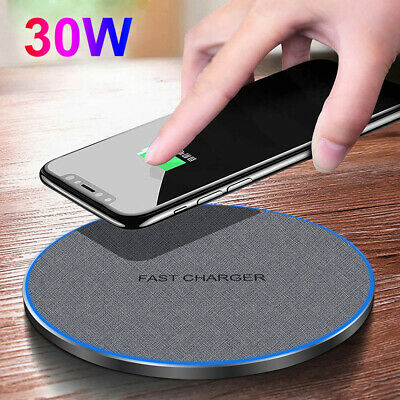 AU21.99 • Buy AU 30W Qi Wireless Charger Fast Charging Pad Dock For Apple IPhone 12Pro Max 11