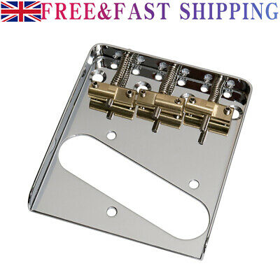 £10.39 • Buy Replacement Vintage Guitars Bridge For Telecaster With Compensated Saddles New