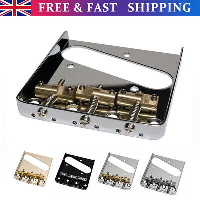 £9.95 • Buy Vintage Guitars Bridge4 Colours With Compensated Saddles For Telecaster Replace
