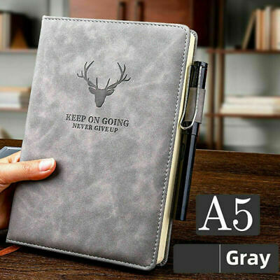 £7.49 • Buy 360 Pages A5 PU Leather Cover Traveler Journal Notebook Lined Paper Diary  Study