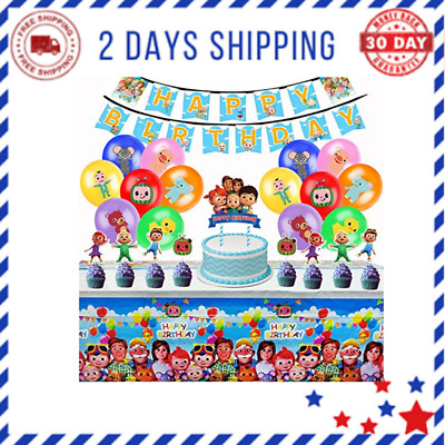 $22.71 • Buy Cocomelon Birthday Party Supplies, Party Decorations Kit For Boys Girls Inclu...