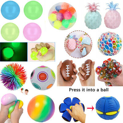 AU12.80 • Buy Mesh Grape Ball Squishy Fidget Toy Squeeze Sensory Hand Finger Toy Stress Relief