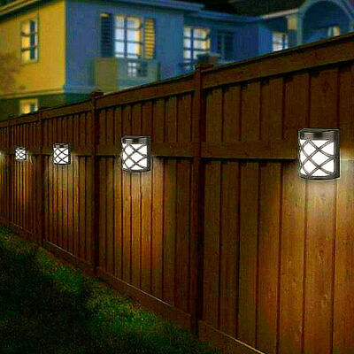 £11.58 • Buy 4pack Led Solar Fence & Wall Lights Garden Security Outdoor Post Step Uk Stock