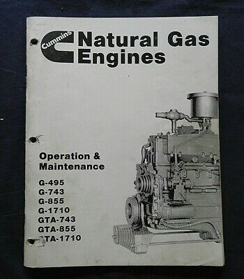 AU77.81 • Buy Cummins G 495 743 855 1710 Gta 743 855 1710 Gas Engine Operators Manual Clean
