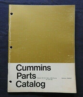 AU54.20 • Buy Genuine Cummins Model 855 Nt-5 1/2  Bore Gc Gs Diesel Engine Part Manual Catalog