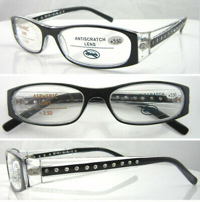 £4.79 • Buy High Quality Women Reading Glasses/Metal Hinges & Diamante Sparkling Arms RG329