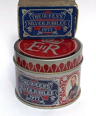 1977 Queens Silver Jubilee Vesta Tin + Matchbox Prince Philip Pictured - Lot 1 • 12£