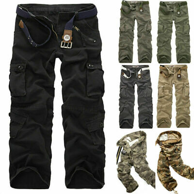 £17.99 • Buy Army Cargo Camo Combat Military Mens Trousers Camouflage Pants Casual Uk