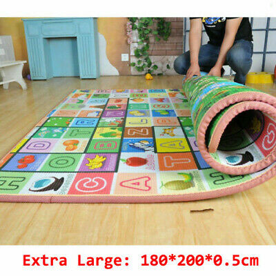 £12.99 • Buy Extra Large 2 Side Baby Mat Kids Crawling Deucational Play Soft Foam Foldable 2M
