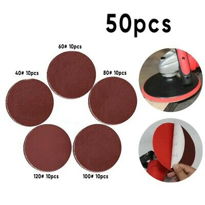 AU41.98 • Buy 50pcs/Set 7 Inch Sanding Discs Sand Paper Hook And Loop Sander Kit 40-120 Grit