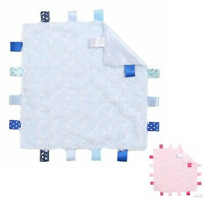 £4.99 • Buy Baby Taggie Blanket Toy With Tags. Taggy Available In Pink, Blue Plush Rose Bud