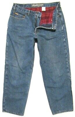 $16.99 • Buy Mens Eddie Bauer Flannel Lined Jeans Size 36 X 30