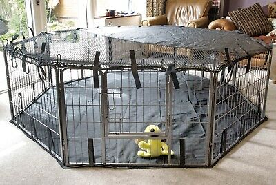 £15.99 • Buy Pet Pen COVER Sun Shade Play Dog Cage Crate Run Fitted Heavy Duty X Large 8 Side