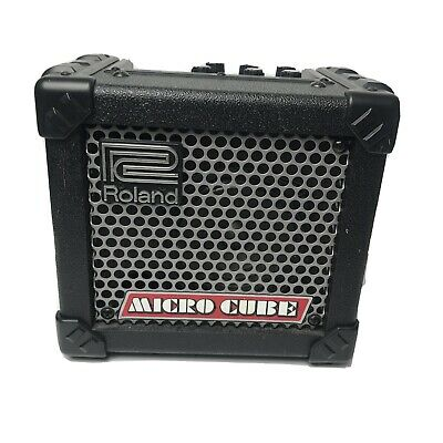 AU136.48 • Buy Roland Micro Cube Guitar Amplifier - Black M-Cube Amp Used Nice Battery Tested