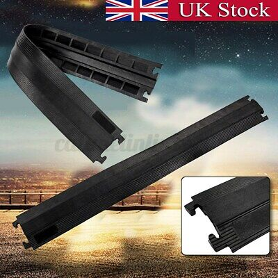 £14.97 • Buy UK 100cm Rubber Vehicle Cable Floor Ramp Cord Surface Cover Protector Outdoor