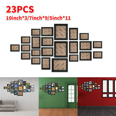 £21.99 • Buy 23PCS Multi-Picture Family Collage Photo Frame Frames Aperture Art Deco Wall Set