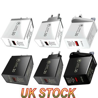 £3.59 • Buy QC 3.0 3A LED Wall Charger Fast Adapter Charging For IPhone IPad Samsung UK Plug