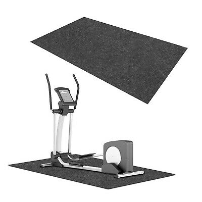 AU23.95 • Buy Treadmill Gym Floor Mat Fitness Exercise Bike Go Fit Pad Protect Equipment CA