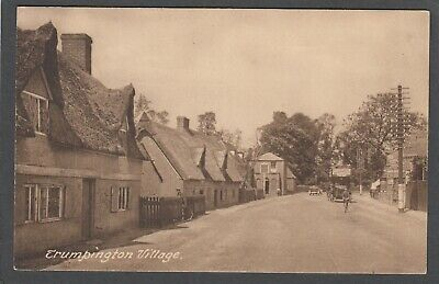 Postcard Trumpington Village Nr Cambridge Thatched Cottages Early Street Scene • 4.99£