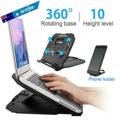 AU17.59 • Buy Adjustable Laptop Stand Home Desk Riser Holder Tray For MacBook Air Pro Dell HP
