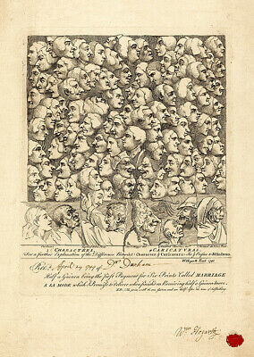 £2.49 • Buy Characters & Caricatures (1743) William Hogarth Wall Art Poster Print