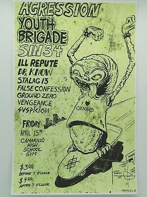 $14.95 • Buy Nardcore Punk Extravaganza!! Aggression Ill Repute Dr Know Rare Concert Poster