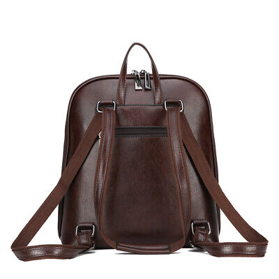 AU46.60 • Buy Women's Backpack Leather Fashion Laptop Rucksack Female Casual Large Capacity