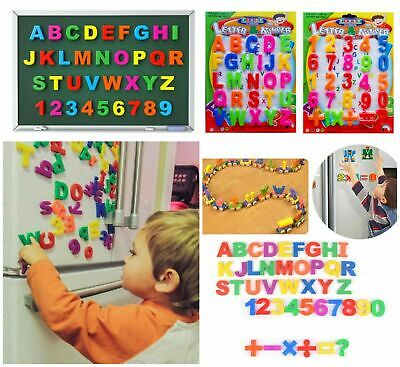 £4.85 • Buy 26 Magnetic Large Letters Alphabet & Numbers Fridge Magnets Toys Kids Learning