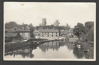 Postcard Ely Cambridgeshire View Of Cathedral From River And Town Early RP • 6.99£