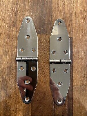 £15 • Buy Stainless Steel Yacht Boat Hatch Hinges 177mm Heavy Duty Pair