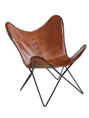£78.26 • Buy Vintage Leather Butterfly Chair Garden Living Room Chairs Replacement Only Cover