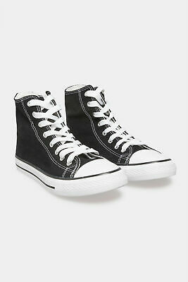 £19.98 • Buy Yours Women's Black Canvas High Top Trainers In Wide Fit Black Size