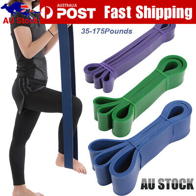 AU8.29 • Buy Heavy Duty Resistance Band Loop Power Gym Fitness Exercise Yoga Workout AU Post