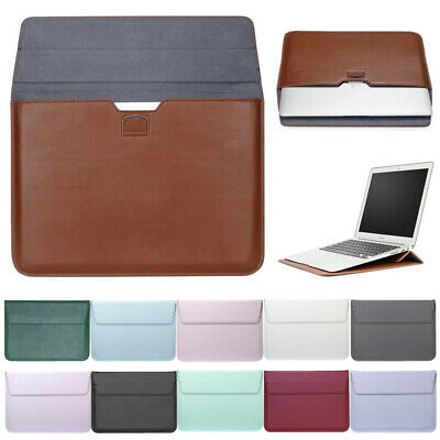 AU21.69 • Buy Laptop MacBook NoteBook Sleeve Bag Travel Carry PU Leather Case Cover 13 Inch