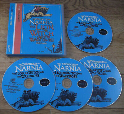£4.99 • Buy C S Lewis THE LION THE WITCH & THE WARDROBE Audio CDs NARNIA 4 Discs MichaelYork