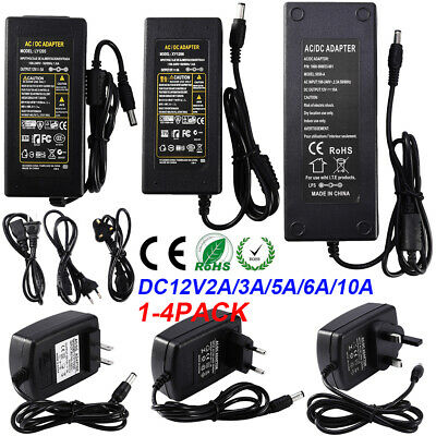 £5.62 • Buy 2/3/5/6/10A 12V Adapter UK Power Supply Safety Charger For LED Strip CCTV Camera