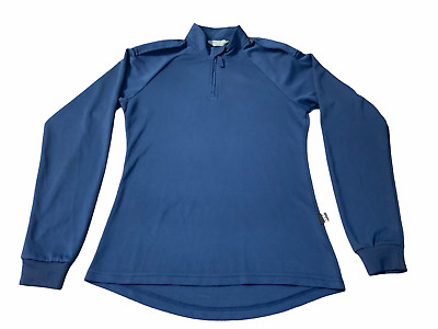 £13.95 • Buy New Male Blue Breathable Long Sleeve Wicking Shirt With Epaulettes Security