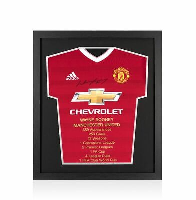 £324.99 • Buy Framed Wayne Rooney Front Signed Manchester United Shirt - Career Special Editio