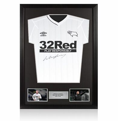£299.99 • Buy Framed Wayne Rooney Signed Derby County Shirt 2020-2021 Autograph Jersey