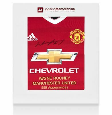 £275.99 • Buy Wayne Rooney Front Signed Manchester United Shirt - Career Special Edition - Gif