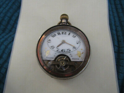 AU1169.58 • Buy Silver Swiss 8 Day Hebdomas With Visible Escapement Pocket Watch