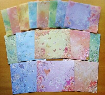 £3.79 • Buy 24 Pc Fairy & Butterfly Embossed Cards, Matching Vellum Inserts & Envelopes