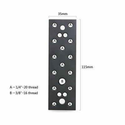 SmallRig Camera Cheese Mounting Plate With 1/4 -20 And 3/8 -16 Threaded Holes • 7.59£