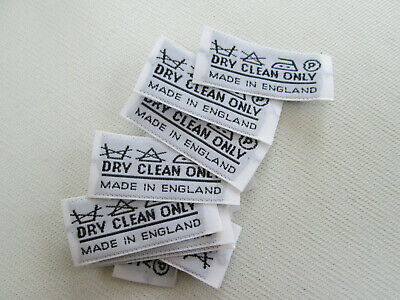 £2.50 • Buy ' DRY CLEAN ONLY ' Care Labels  Woven - Per 20 , 50 Or 100