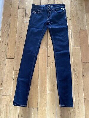 £17.99 • Buy Ladies Womens Replay WX689 LUZ Skinny Blue Jeans W28 L34. NEW WITHOUT TAGS.